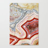 Marble Red Canvas Print