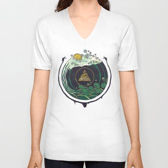 Water V-neck T-shirt