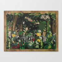Tending to the Wounded, Vietnam Canvas Print