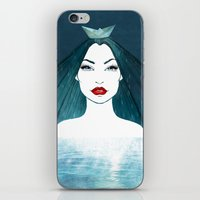 Rainy girl iPhone & iPod Skin