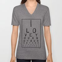 I love you and you dont see it Unisex V-Neck