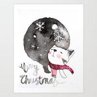 Wishing you a Merry Christmas  Art Print
