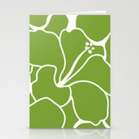 Hibiscus Animal Green Stationery Cards