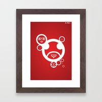 RED - Type Face Framed Art Print