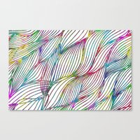 Trace Paint Abstract Canvas Print