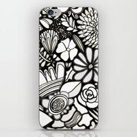 Flowers On The Wall Black & White Edition iPhone & iPod Skin