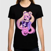 Pastel Goth Usagi (Glass… Womens Fitted Tee Black SMALL