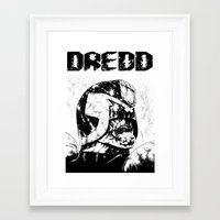 Framed Art Print featuring Dredd by Suarez Art