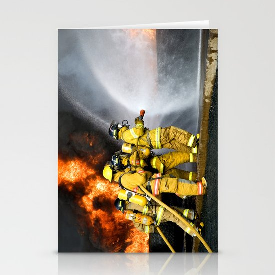 Firefighters Stationery Card