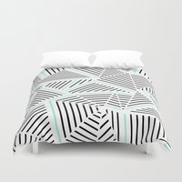 Ab Linear Zoom With Mint Duvet Cover