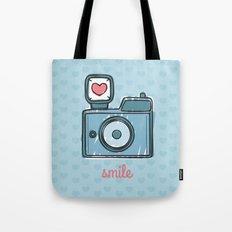 Blue Smile Tote Bag
