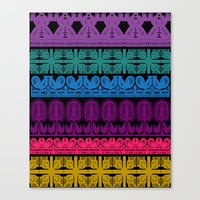 folk cutouts pattern Canvas Print