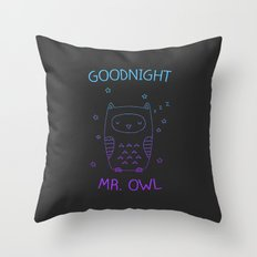 Goodnight Mr. Owl Throw Pillow