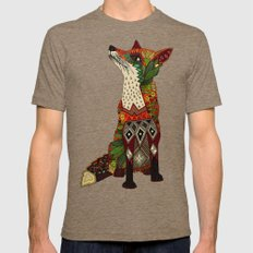 fox love juniper Mens Fitted Tee Tri-Coffee LARGE