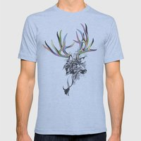 White-Tailed Deer Mens Fitted Tee Athletic Blue SMALL