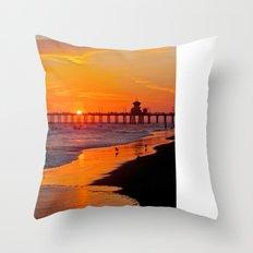 Huntington Beach Sunset 2/28/14 b Throw Pillow