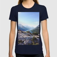 Waterton Bear Hump Womens Fitted Tee Navy SMALL