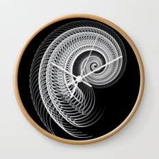 Black And White Skeletal Shell  Wall Clock