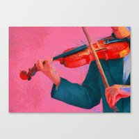 The Violinist  Canvas Print