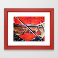 Homage to the Violin Framed Art Print