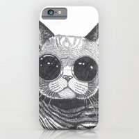 iPhone Cases featuring cool cat by Polkip