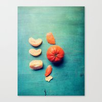 Orange Wedge Canvas Print