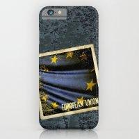 Grunge sticker of European Union flag iPhone 6 Slim Case