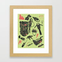 Artifacts: Ghostbusters Framed Art Print