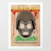 DEATH RACE 2000 - Frankenstein Mask Art Print