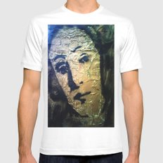 VENUS IN GOLD3 Mens Fitted Tee SMALL White