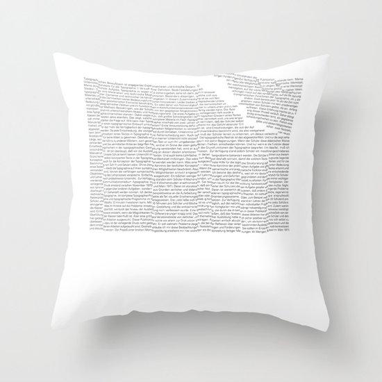 Erosion & Typography 2 Throw Pillow
