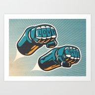 Love/Hate Art Print