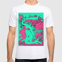 Allegorical Fight.  (Red .Vs. Green). Mens Fitted Tee Ash Grey SMALL