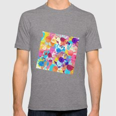 Anemones Flowers Mens Fitted Tee Tri-Grey SMALL