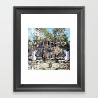 Summer space, smelting selves, simmer shimmers. 25 Framed Art Print