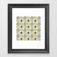 MCM Sunflowers Framed Art Print