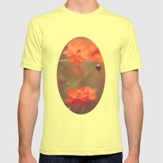 Orange III Mens Fitted Tee Lemon SMALL