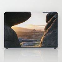 Owler Tor rock formations at sunset. Derbyshire, UK. iPad Case