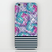 Pink and Blue Garden iPhone & iPod Skin