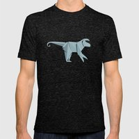 Origami Monkey Mens Fitted Tee Tri-Black SMALL