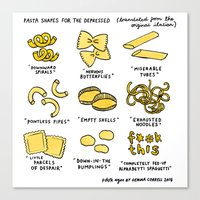Pasta Shapes For The Dep… Canvas Print