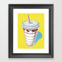In-N-Out Cup Framed Art Print