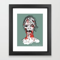 Zombie Framed Art Print