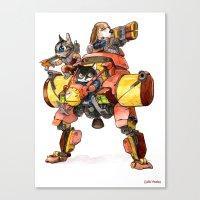 The Light Assault Walker Canvas Print