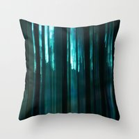 Forest In Emerald Green Throw Pillow