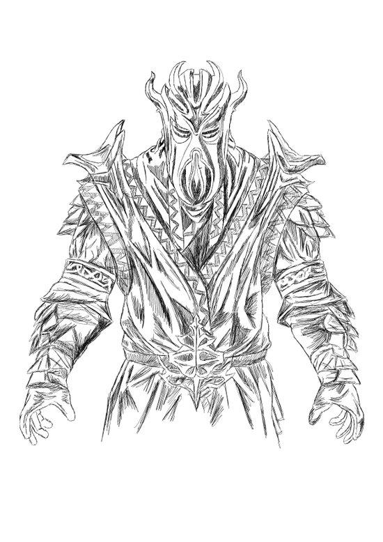 skyrim dragonborn miraak Art Print