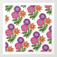 Bouquet Pattern Art Print