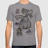 animals Mens Fitted Tee Athletic Grey SMALL