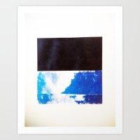 SKY/BLK Art Print
