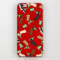 Merry Dachshunds iPhone & iPod Skin